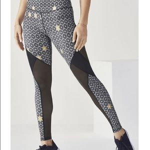 Fabletics  black and gold leggings